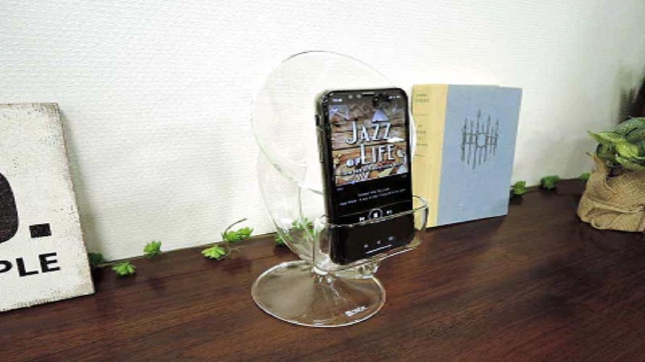 ガラス製のスピーカー